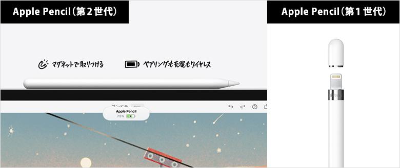 iPad選び(2) Apple Pencilが第2世代かどうか?